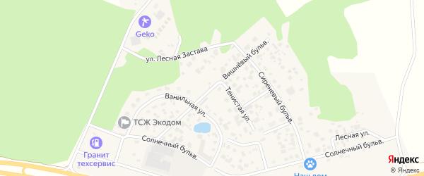Улица Вишневый бульвар на карте поселка Нового Кременкуль с номерами домов
