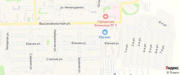 Лунный переулок на карте Первомайского поселка с номерами домов