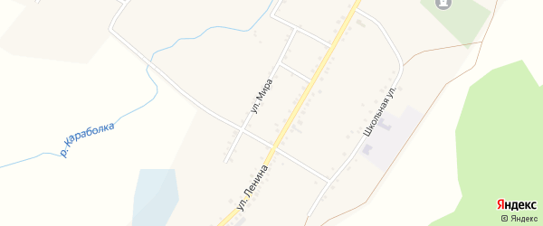 Улица Мира на карте села Татарской Караболки с номерами домов