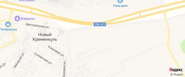 Парковая улица на карте поселка Нового Кременкуль с номерами домов
