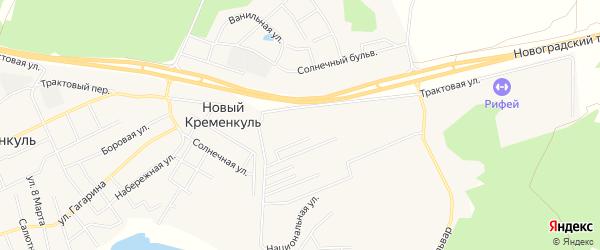 Карта поселка Нового Кременкуль в Челябинской области с улицами и номерами домов