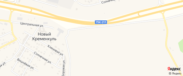 Промышленная улица на карте поселка Нового Кременкуль с номерами домов