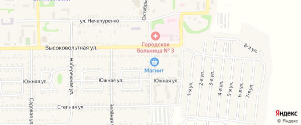 Больничная улица на карте Первомайского поселка с номерами домов