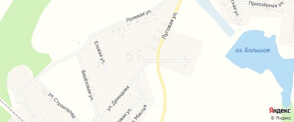 Южная улица на карте Томинского поселка с номерами домов