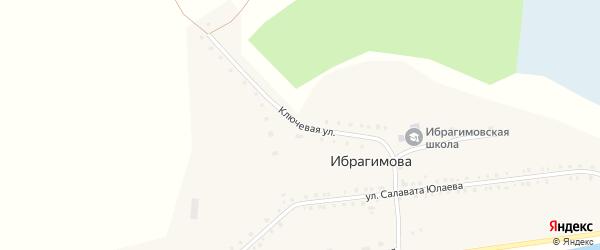 Ключевая улица на карте деревни Ибрагимова с номерами домов
