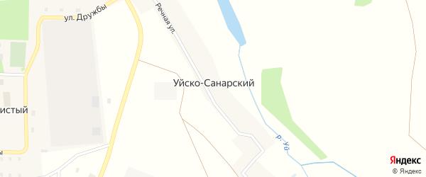 Речная улица на карте Уйска-Санарского поселка с номерами домов