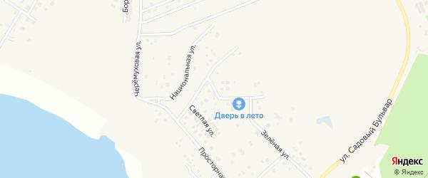 Солнечная улица на карте Садового поселка с номерами домов