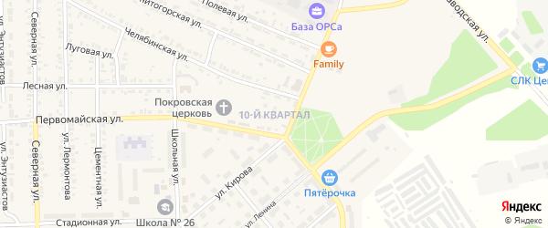 10-й квартал на карте Первомайского поселка с номерами домов