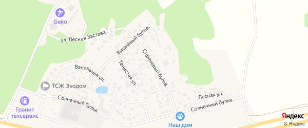 Улица Сиреневый Бульвар на карте поселка Нового Кременкуль с номерами домов