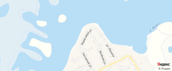 Береговая улица на карте деревни Бутаки с номерами домов