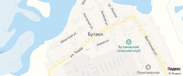 Улица Труда на карте деревни Бутаки с номерами домов
