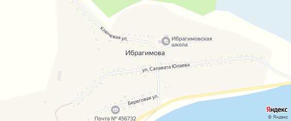Молодежная улица на карте деревни Ибрагимова с номерами домов