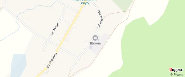 Школьная улица на карте села Татарской Караболки с номерами домов