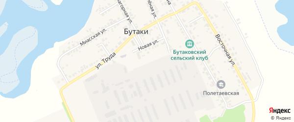 Южная улица на карте деревни Бутаки с номерами домов