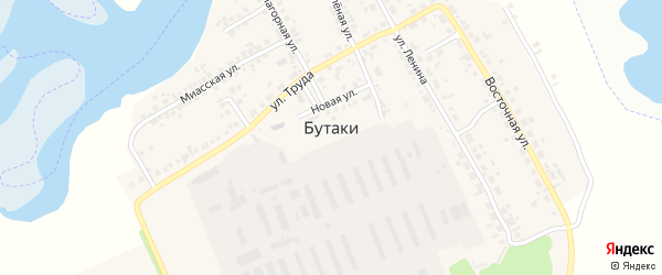 Вишневый переулок на карте деревни Бутаки с номерами домов
