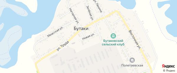 Новая улица на карте деревни Бутаки с номерами домов