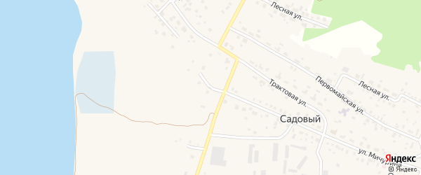 Просторный переулок на карте Садового поселка с номерами домов