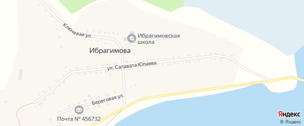 Улица Салавата Юлаева на карте деревни Ибрагимова с номерами домов