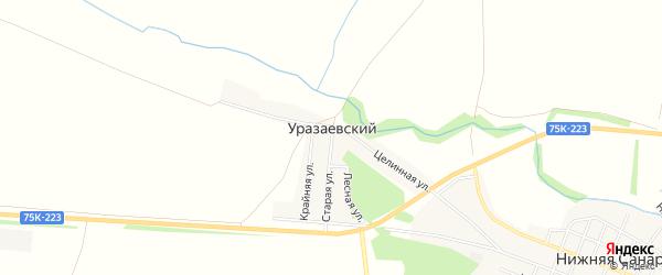 Карта Уразаевского поселка в Челябинской области с улицами и номерами домов