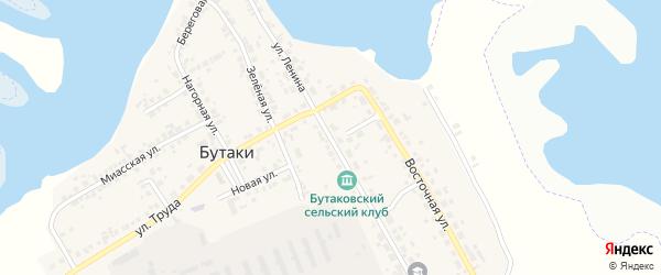 Улица Ленина на карте деревни Бутаки с номерами домов