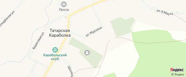 Улица 8 Марта на карте села Татарской Караболки с номерами домов