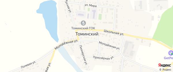 Дубровский сад на карте Томинского поселка с номерами домов