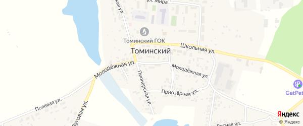Молодежная улица на карте Томинского поселка с номерами домов