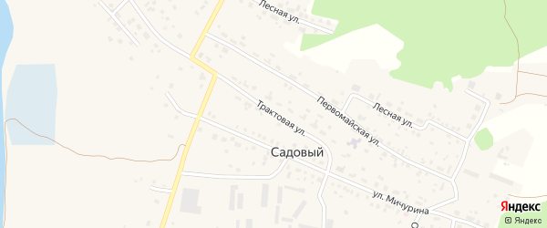 Трактовая улица на карте Садового поселка с номерами домов