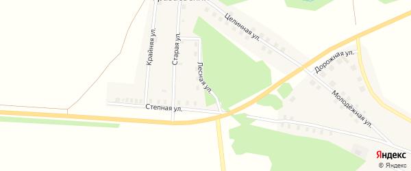 Лесная улица на карте Уразаевского поселка с номерами домов