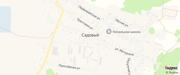 Просторная улица на карте Садового поселка с номерами домов