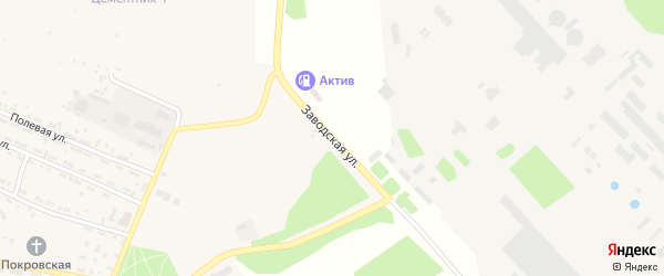 Заводская улица на карте Первомайского поселка с номерами домов