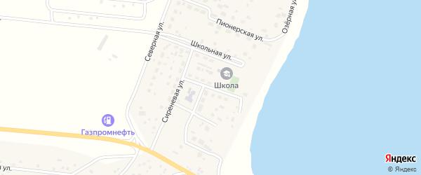 Российская улица на карте деревни Касарги с номерами домов