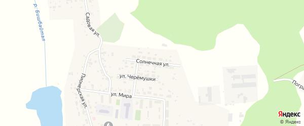 Солнечная улица на карте Томинского поселка с номерами домов