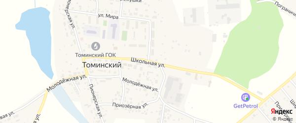 Школьная улица на карте Томинского поселка с номерами домов