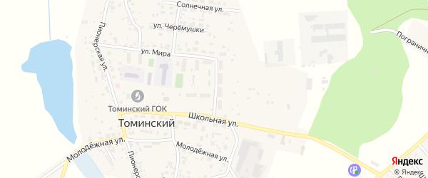 Улица Новоселов на карте Томинского поселка с номерами домов
