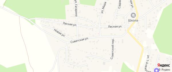Переулок Уютный (мкр Лесной остров) на карте деревни Малиновки с номерами домов