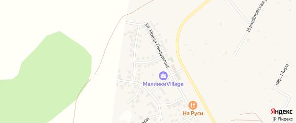 Улица Марка Шагала (мкр N4) на карте деревни Малиновки с номерами домов