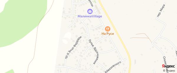 Бульвар Вдохновения (мкр N4) на карте деревни Малиновки с номерами домов