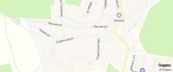Советская улица на карте деревни Малиновки с номерами домов