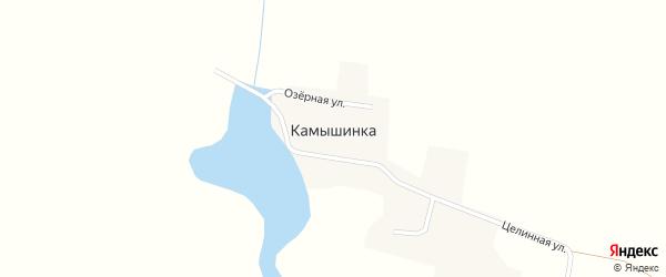 Озерная улица на карте поселка Камышинки с номерами домов