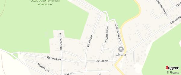 Улица Мира на карте деревни Малиновки с номерами домов