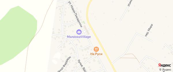 Улица Новая Пикадилли (мкр N4) на карте деревни Малиновки с номерами домов