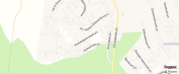 Улица Аквамариновая (мкр 4а) на карте деревни Малиновки с номерами домов