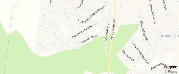 Улица Алмазная (мкр 4а) на карте деревни Малиновки с номерами домов