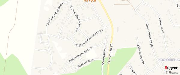 Улица Ивана Айвазовского (мкр N4) на карте деревни Малиновки с номерами домов
