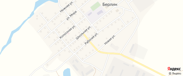 Рабочая улица на карте поселка Берлина с номерами домов