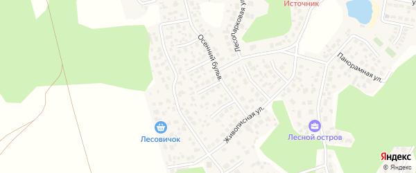 Благодатный переулок на карте Челябинска с номерами домов