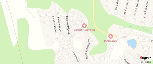 Улица Весенняя ( жз Урал-Терра ) на карте деревни Малиновки с номерами домов