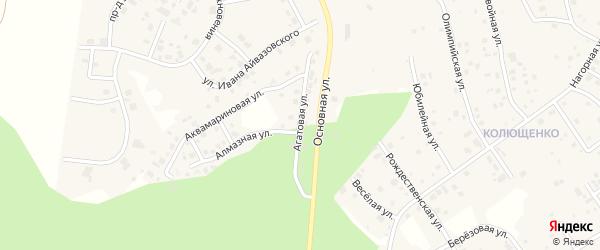 Улица Агатовая (мкр 4а) на карте деревни Малиновки с номерами домов