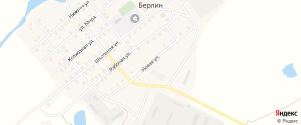 Новая улица на карте поселка Берлина с номерами домов